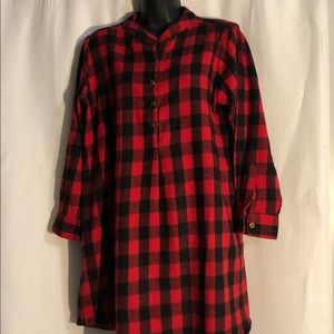 B. Boutique by Evergreen Buffalo Plaid Flannel Top